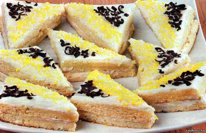 пирожные с кремом рецепт с фото