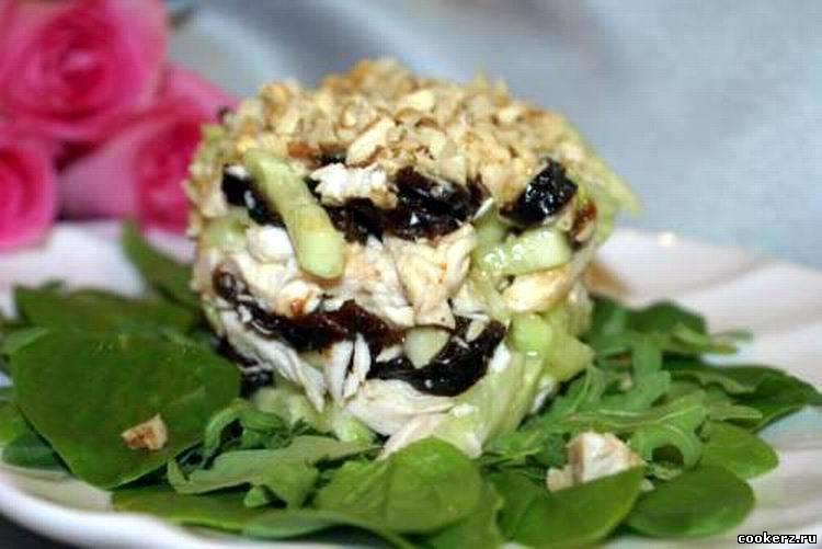 Салат с черносливом рецепт с курицей